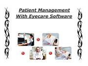 Patient Management With Eyecare Software