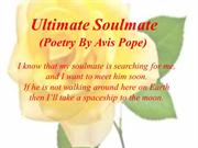 Ultimate Soulmate (Poetry By Avis Pope)