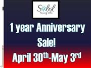 Anniversary Sale 4-30-13 through 5-3-13!!!
