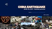 CHINA earthquake-APRIL 20,2013