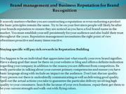 Brand management and Business Reputation for Brand Recognition