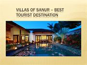 Villas of Sanur - Best Tourist Destination