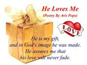 He Loves Me (Poetry By Avis Pope)