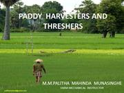 Paddy Harvesters And Threshers