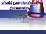 Health Care Trends Consumerism