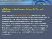 2 Challenges to Using Transport Software for Fleet and Warehouse