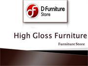 High Gloss Furniture Has High Application in the Modern Society