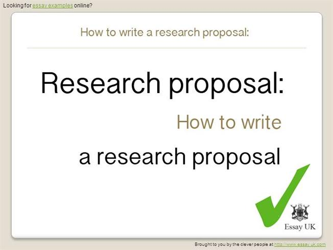 Essay Examples  How To Write A Research Proposal Authorstream