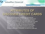 Attributes Of Discover Credit Cards