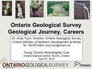 Geology and careers - Geological Survey Perspective