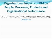 Organizational Impacts of Knowledge Management