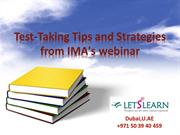 CMA Test-Taking Tips and Strategies from IMA's webinar