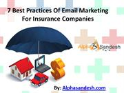 7 Best Practices Of Email Marketing For Insurance Companies
