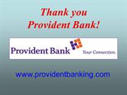 Thank You Provident Bank (Valley Restart)