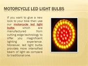 Motorcycle led light bulbs