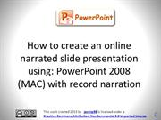 NarratedPowerPoint+authorstream_MAC