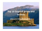 Top 10 Scottish poets and writers
