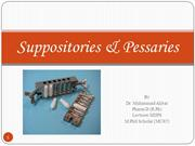 Dispensing of Suppositories & Pessaries