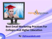 Best Email Marketing Practices For Colleges And Higher Education