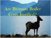 SLIDESHARE - Are biomass boiler costs justified