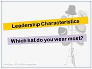 Leadership Characteristics - Heroes, Wizards, Parents, Poets and Athle