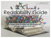 Readability Guide for Schools