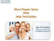 Pepper Spray Keychain With High Tech Safety