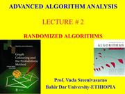 Randomized Algorithms-Amortized Analysis