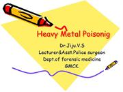 Heavy metal poisoning Arsenic andMercury