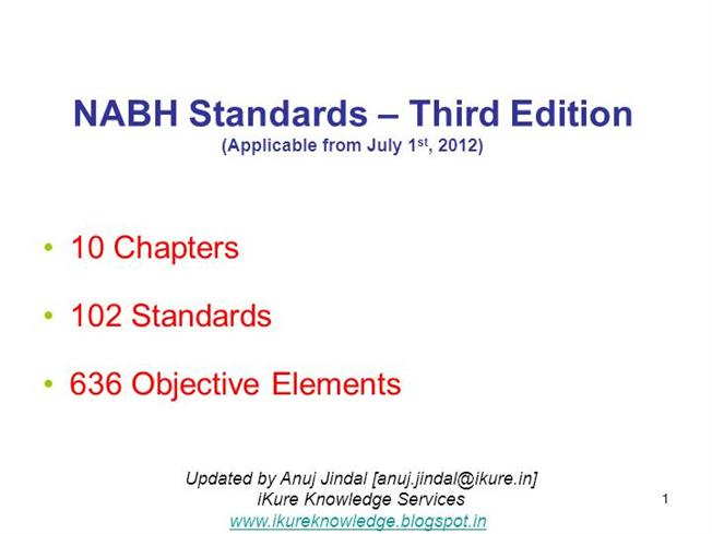 98815281 nabh 3rd edition presentation authorstream rh authorstream com Nabh Icon Nabh Logo