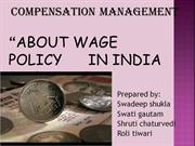 wage policy in India and abroad