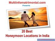 Beautiful Honeymoon Locations in India