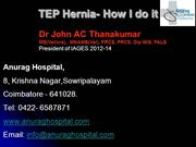 TEP - How to do ... with external views of trochar and mesh