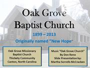 Oak Grove Baptist Church May 2013