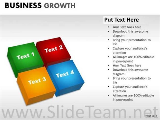 Stages Of Business Growth PlanPowerPoint Diagram - Business growth plan template