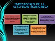 Indicadores de la actividad economica