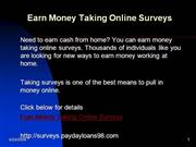 Earn Money Taking Online Surveys