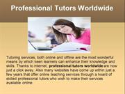 Professional Tutors Worldwide