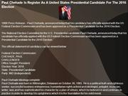 Paul Chehade Is Register As A United States Presidential Candidate
