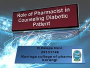 Role of Pharmacist in Counseling Diabetic Patient imp