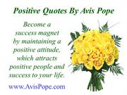 Positive Quotes by Avis Pope