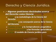 DERECHO Y CIENCIA JURIDICA