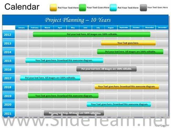 10 Years Planning Project Ppt Template Powerpoint Diagram