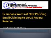 Scambook Warns of New Phishing Email Claiming to be US Federal Reserve