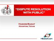 Dispute Resolution With Public.