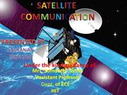 SATELLITE COMMUNICATION FINAL