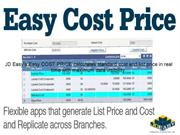 JDEasy Real Time Easy COST PRICE