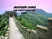 Ancient China-The Great Wall of China