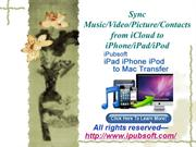 Sync Music Video Picture Contacts from iCloud to iPhone iPad iPod