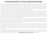 Home Remedies For Yeast Infection Remedy